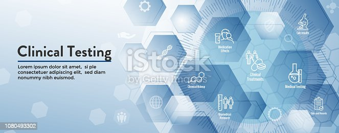Medical Healthcare Icons - People Charting Disease or Scientific Discovery Web Header Banner