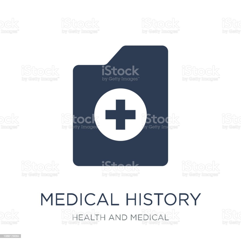 Medical history icon. Trendy flat vector Medical history icon on white background from Health and Medical collection vector art illustration