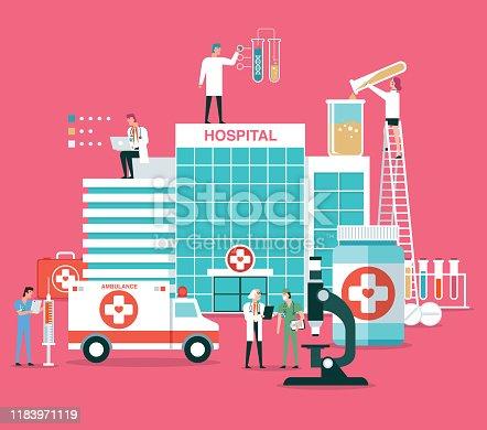 Medical examination infographic concept. Medicine healthcare.