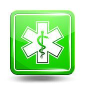 Medical Icon. Emergency Symbol. Green Set