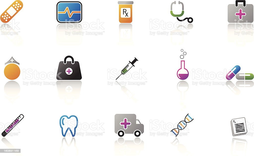Medical Icon Set - Color vector art illustration