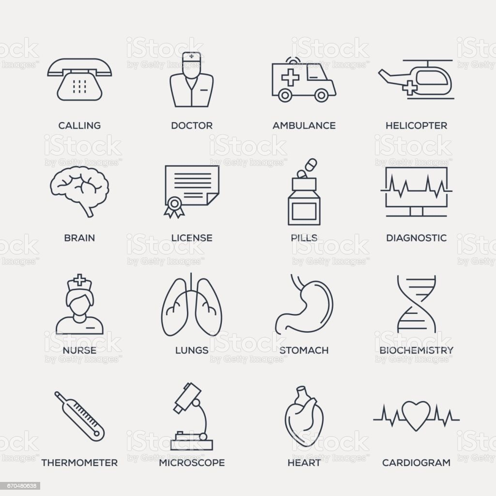 Medical Icon Set - Line Series vector art illustration
