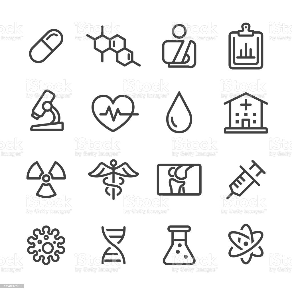 Medical Icon Set - Line Series vector art illustration