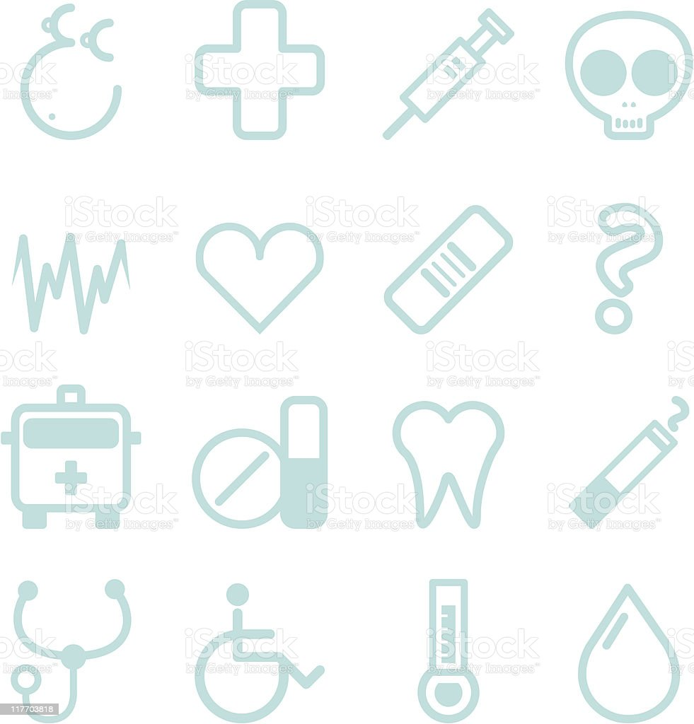 medical icon set vector art illustration