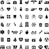 Set of 56 medical icons for your design and products.