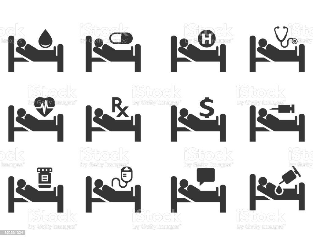 Medical icon set - arte vettoriale royalty-free di Accudire