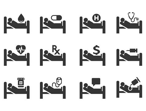 Medical Icon Set - Immagini vettoriali stock e altre immagini di Accudire