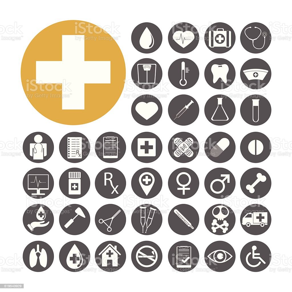 Medical Icon set vector illustration vector art illustration