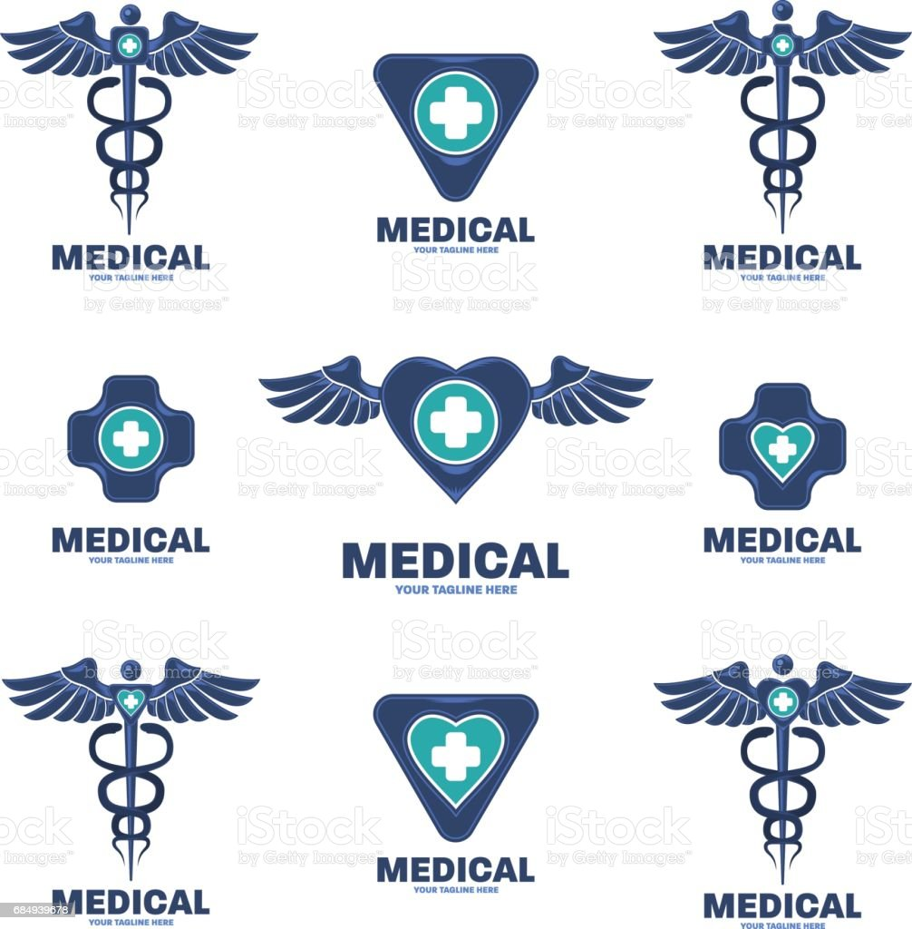 medical icon template design vector art illustration