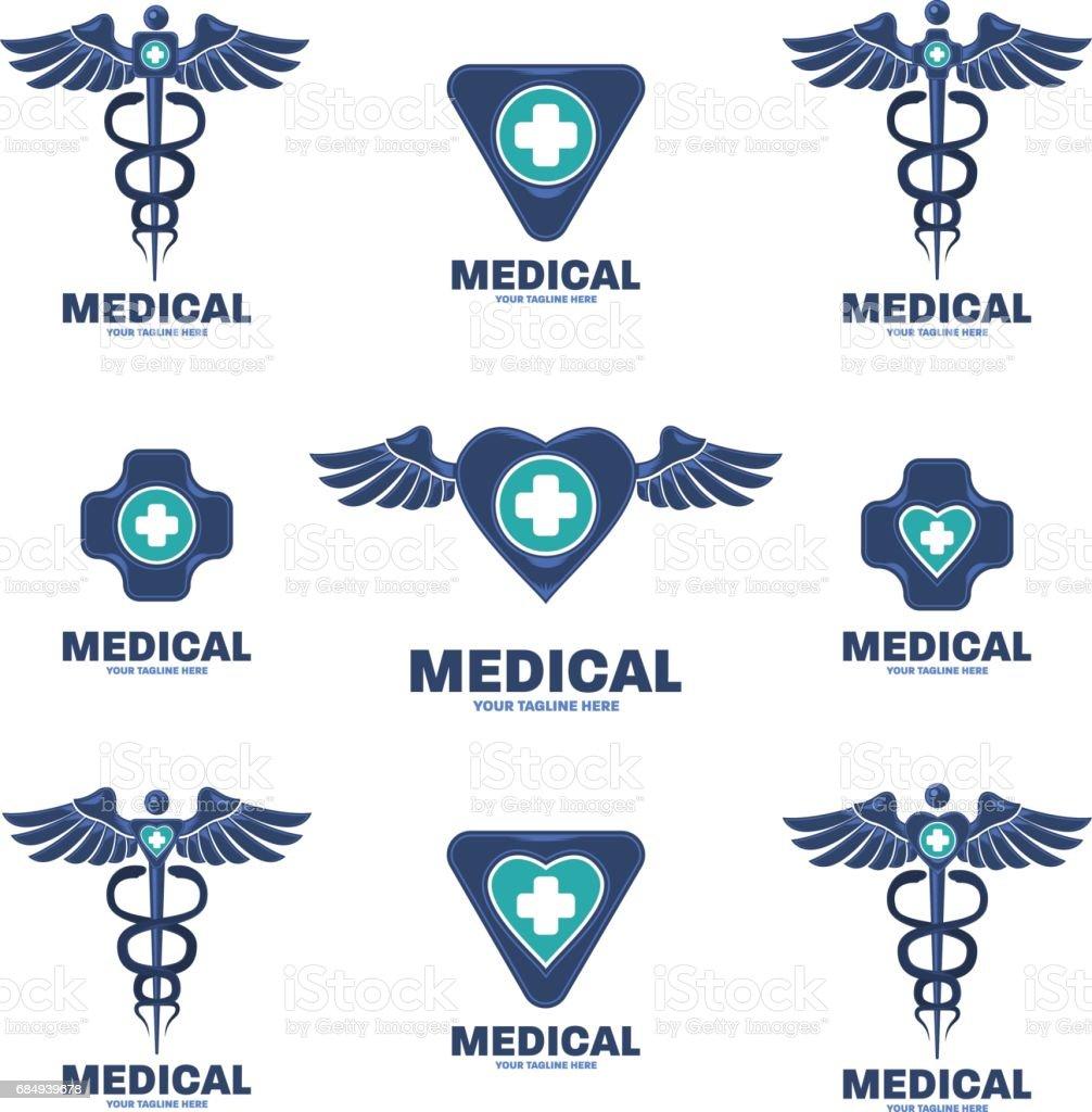 medizinischen Symbol-Template-design – Vektorgrafik