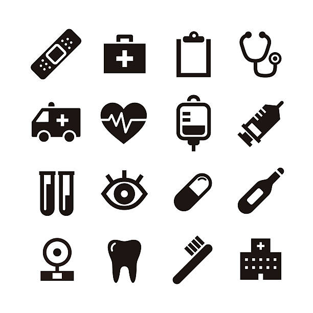 Medical icon vector art illustration