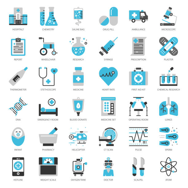 medical icon - medicine stock illustrations, clip art, cartoons, & icons