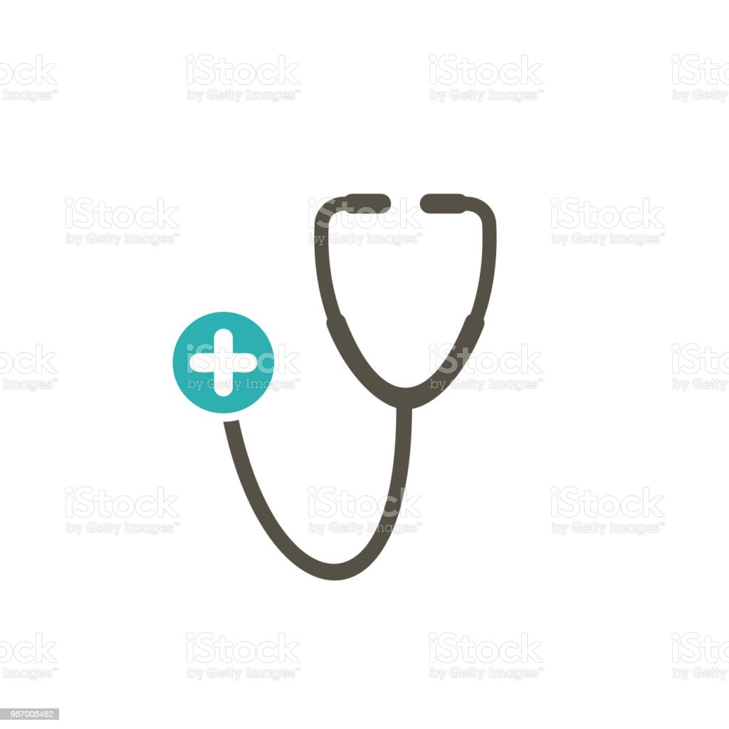 Medical icon with add sign. Medical icon and new, plus, positive symbol vector art illustration