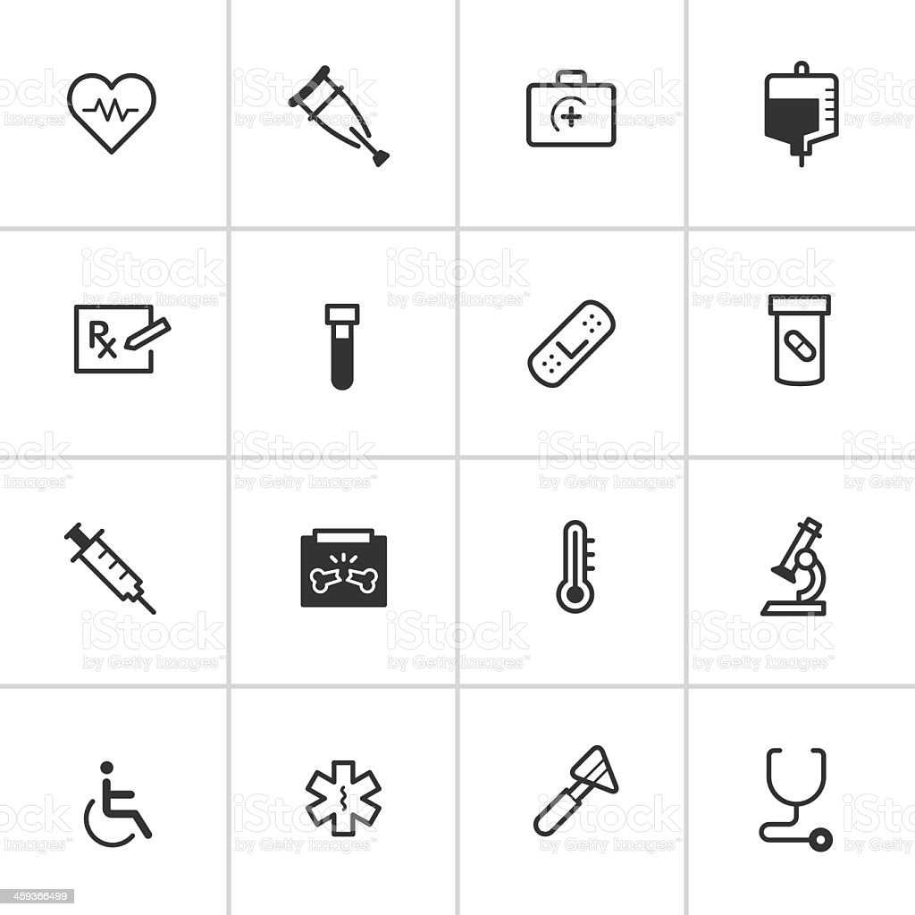 Medical Icons 1 — Inky Series royalty-free stock vector art