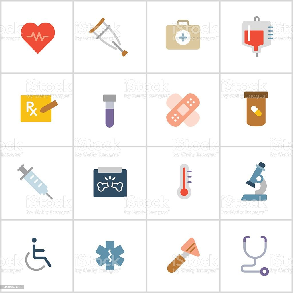 Medical Icons 1 — Poly Series vector art illustration