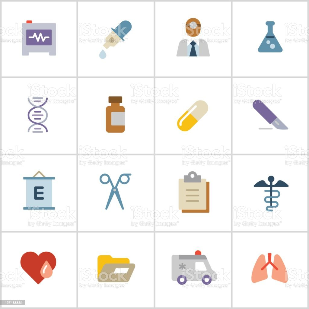 Medical Icons 2 — Poly Series royalty-free stock vector art