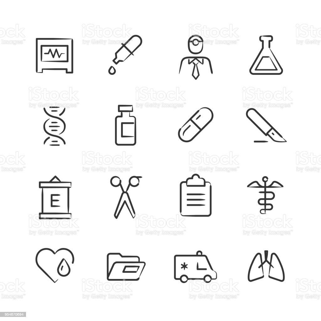 Medical Icons 2 — Sketchy Series vector art illustration