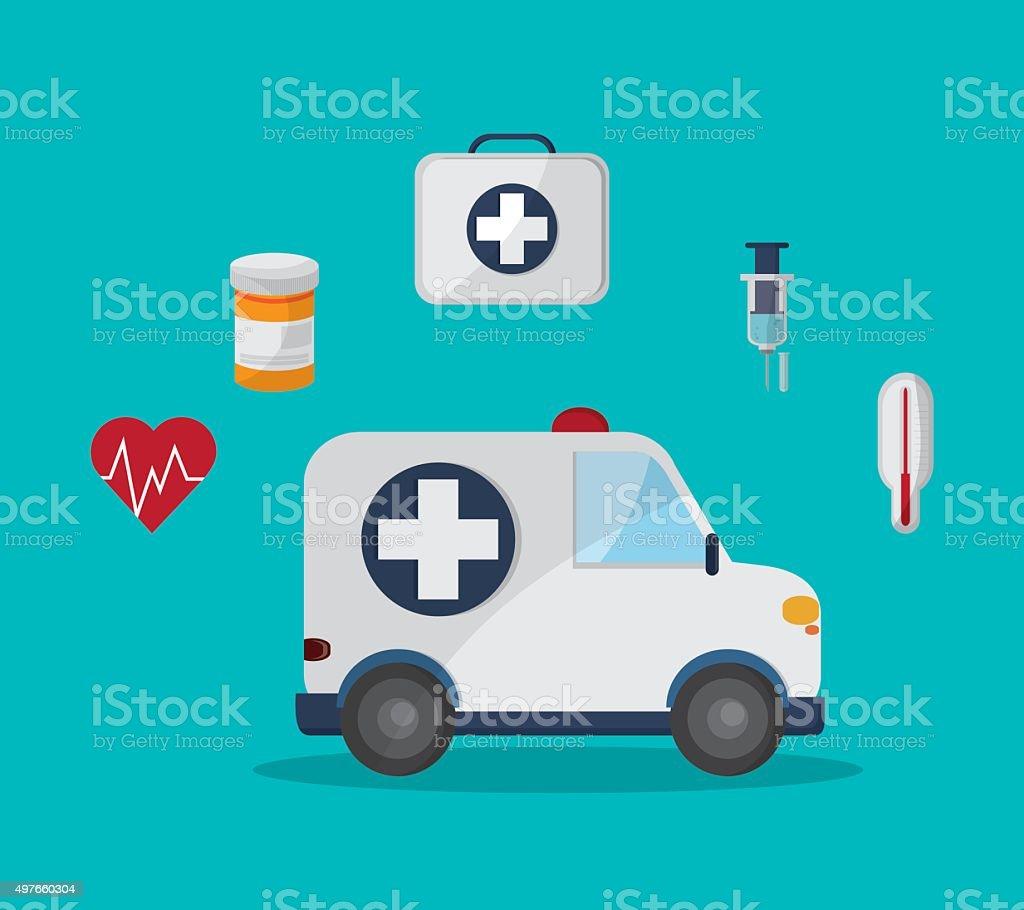 Medical icons design vector art illustration