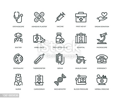 Medical Icons - Line Series