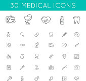 Medical icons pack.