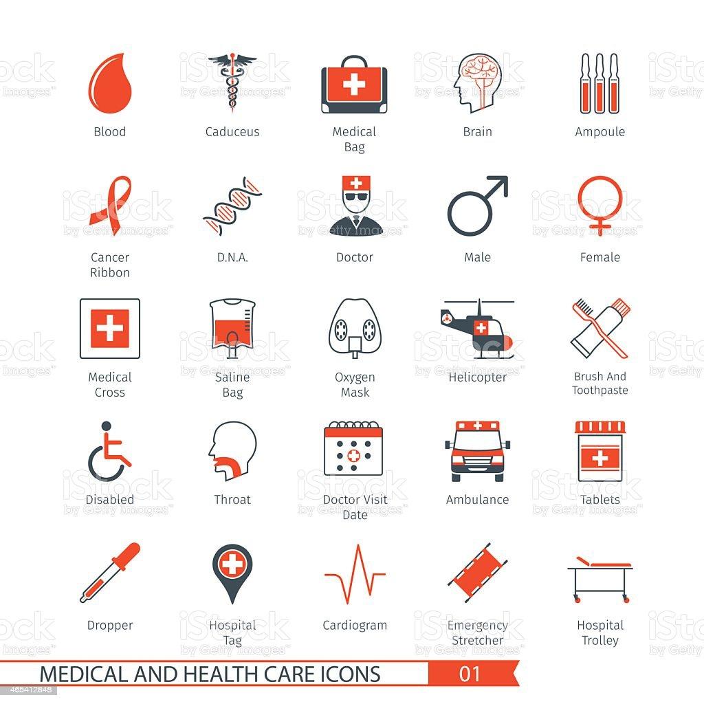Medical Icons Set 01 vector art illustration