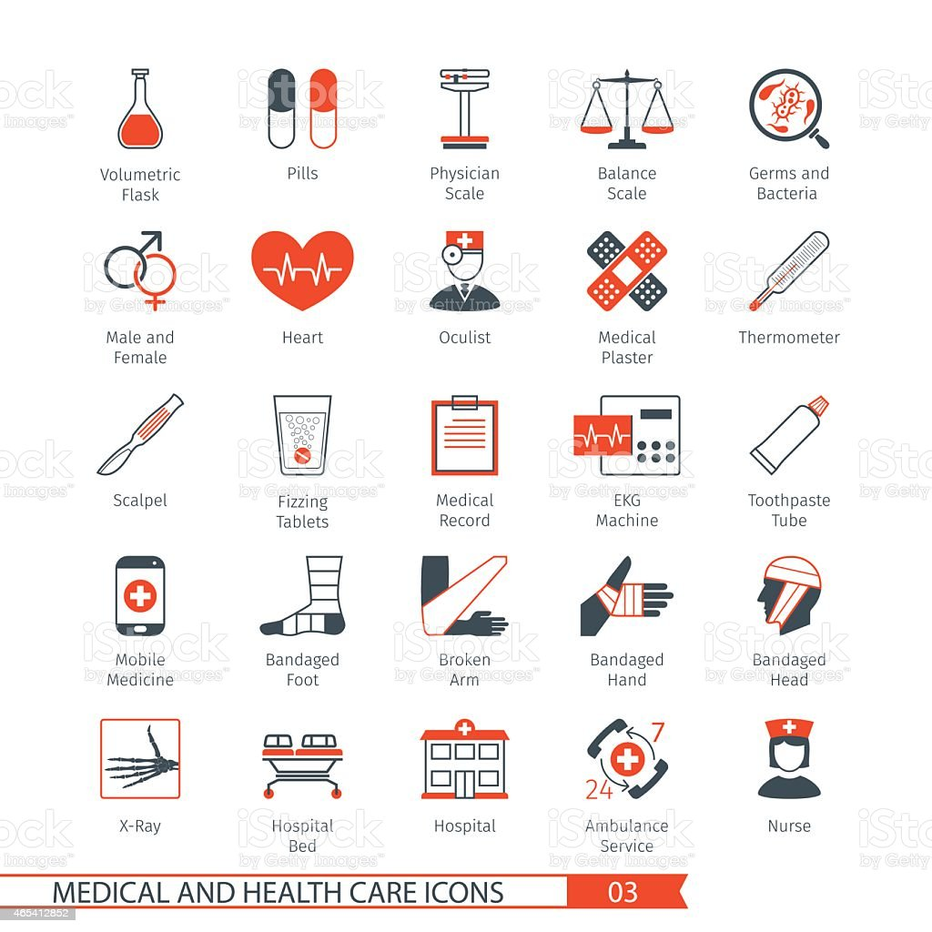 Medical Icons Set 03 vector art illustration