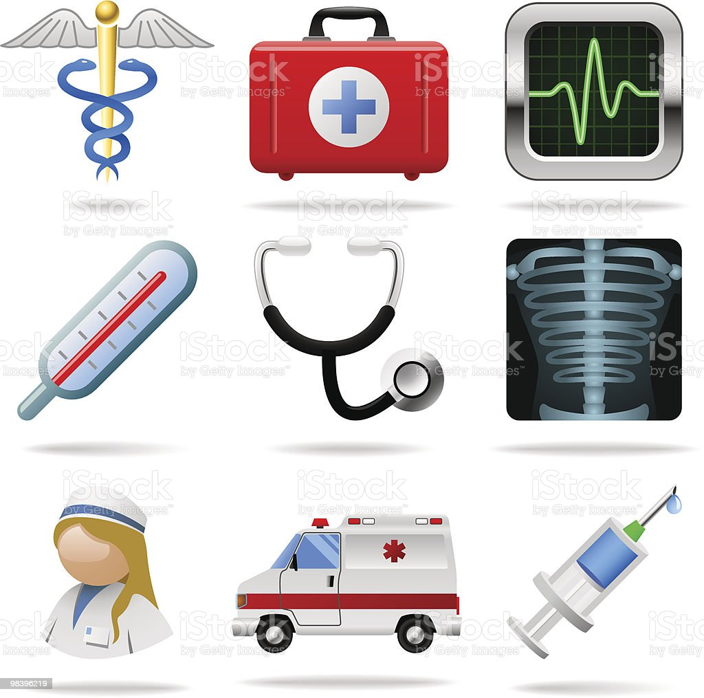 Medical icons. Set 1. royalty-free medical icons set 1 stock vector art & more images of ambulance