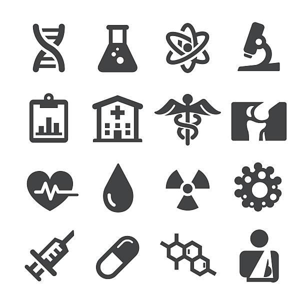 medical icons set - acme series - becherglas stock-grafiken, -clipart, -cartoons und -symbole