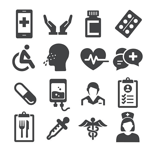 Black And White Nurse Illustrations, Royalty-Free Vector