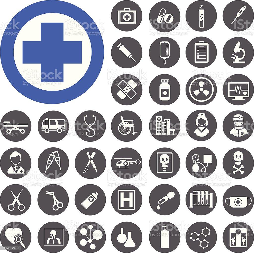 Medizinische Symbole set.  Vektor-Illustration-eps - 10 – Vektorgrafik