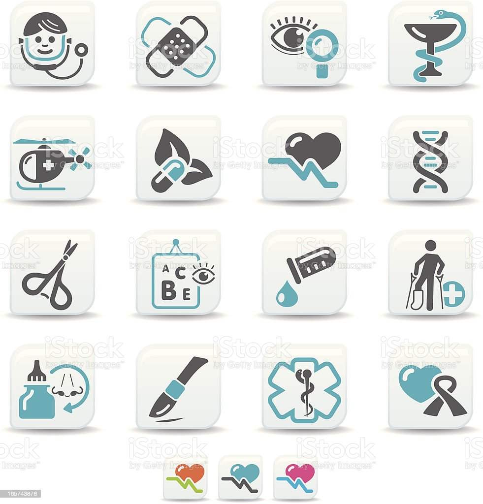 medical icons | simicoso collection vector art illustration