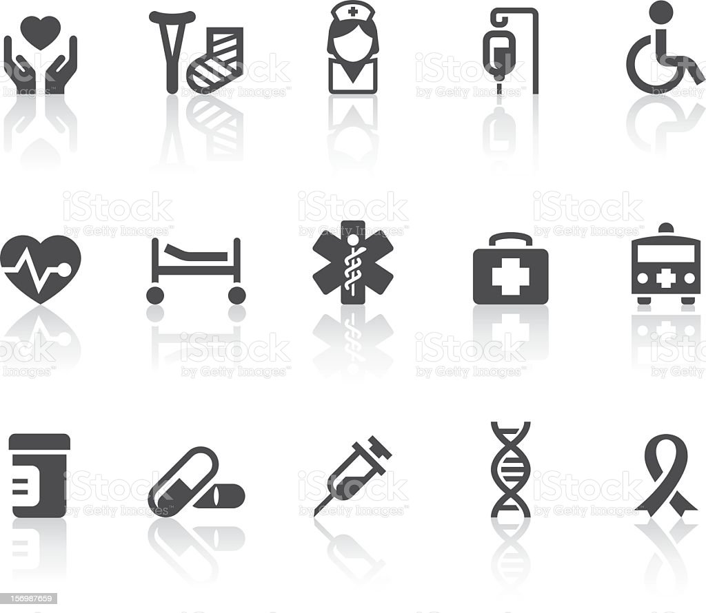 Medical Icons | Simple Black Series royalty-free stock vector art