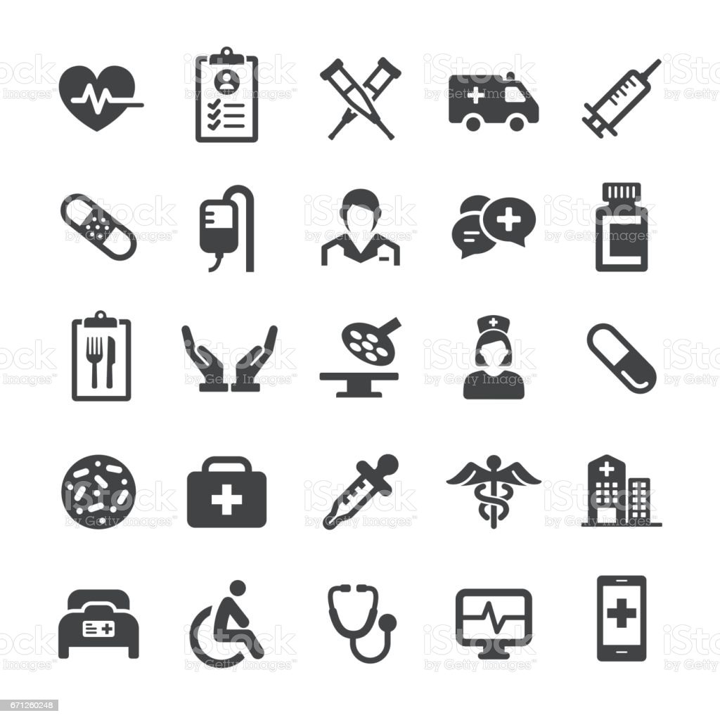 Medical Icons - série Smart - Illustration vectorielle