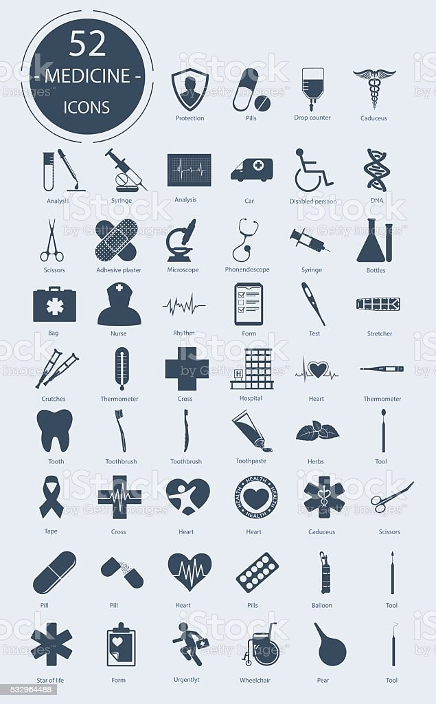 Medical icons. Vector elements vector art illustration