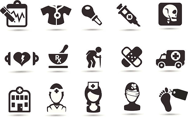medical icons - autopsy stock illustrations, clip art, cartoons, & icons