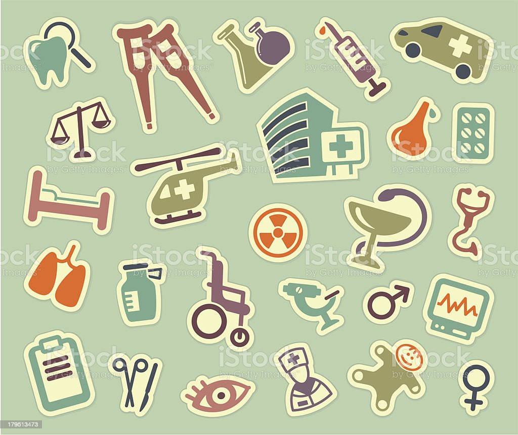 Medical icons royalty-free medical icons stock vector art & more images of accidents and disasters