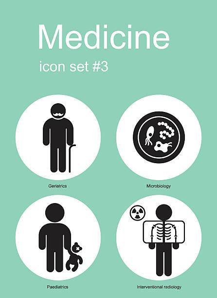 医療アイコン - 老年医学点のイラスト素材/クリップアート素材/マンガ素材/アイコン素材