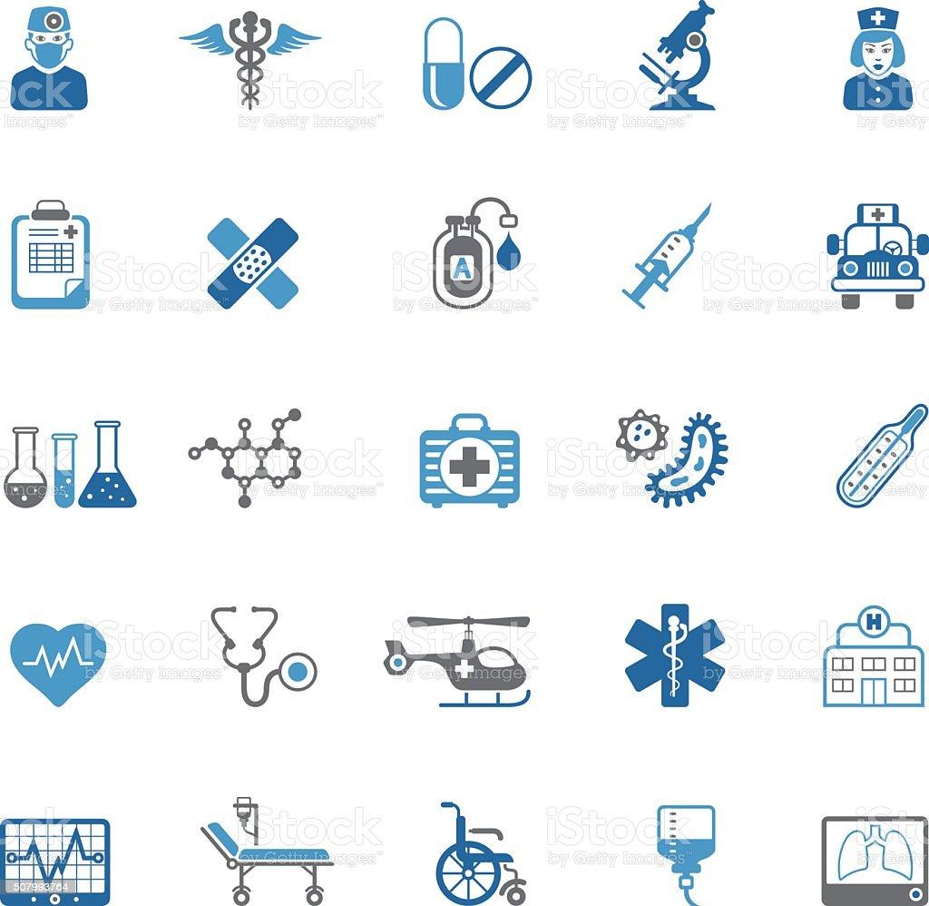 Ícones de Médico - ilustração de arte em vetor