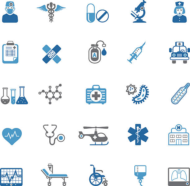 medical icons - medical equipment stock illustrations, clip art, cartoons, & icons