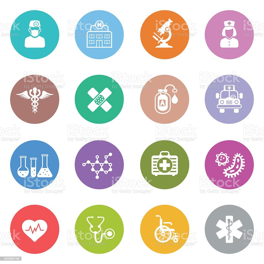 Medical icônes - Illustration vectorielle