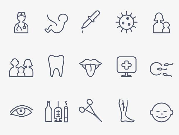 ilustrações, clipart, desenhos animados e ícones de ícones de médico - pediatra