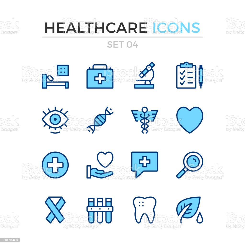 Medical icons. Vector line icons set. Premium quality. Simple thin line design. Stroke, linear style. Modern outline symbols, pictograms vector art illustration