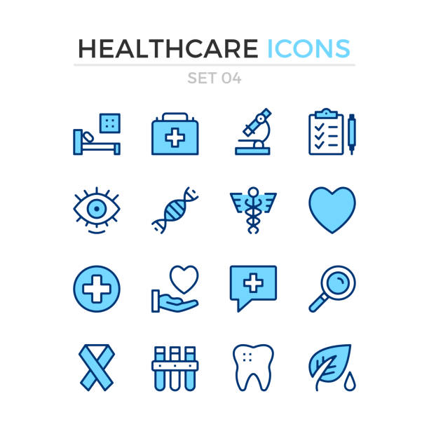 medical icons. vector line icons set. premium quality. simple thin line design. stroke, linear style. modern outline symbols, pictograms - medical exams stock illustrations, clip art, cartoons, & icons