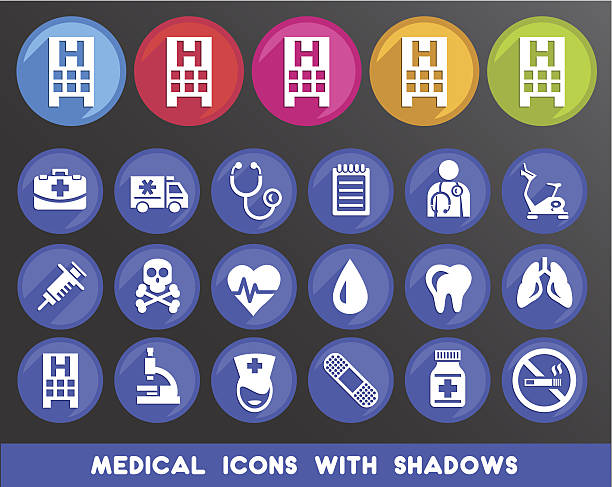 Medical Icons with Shadows.vectorkunst illustratie