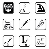 Medical icons with White Background.