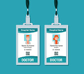 Plastic and Laminated Medical Badge or id card