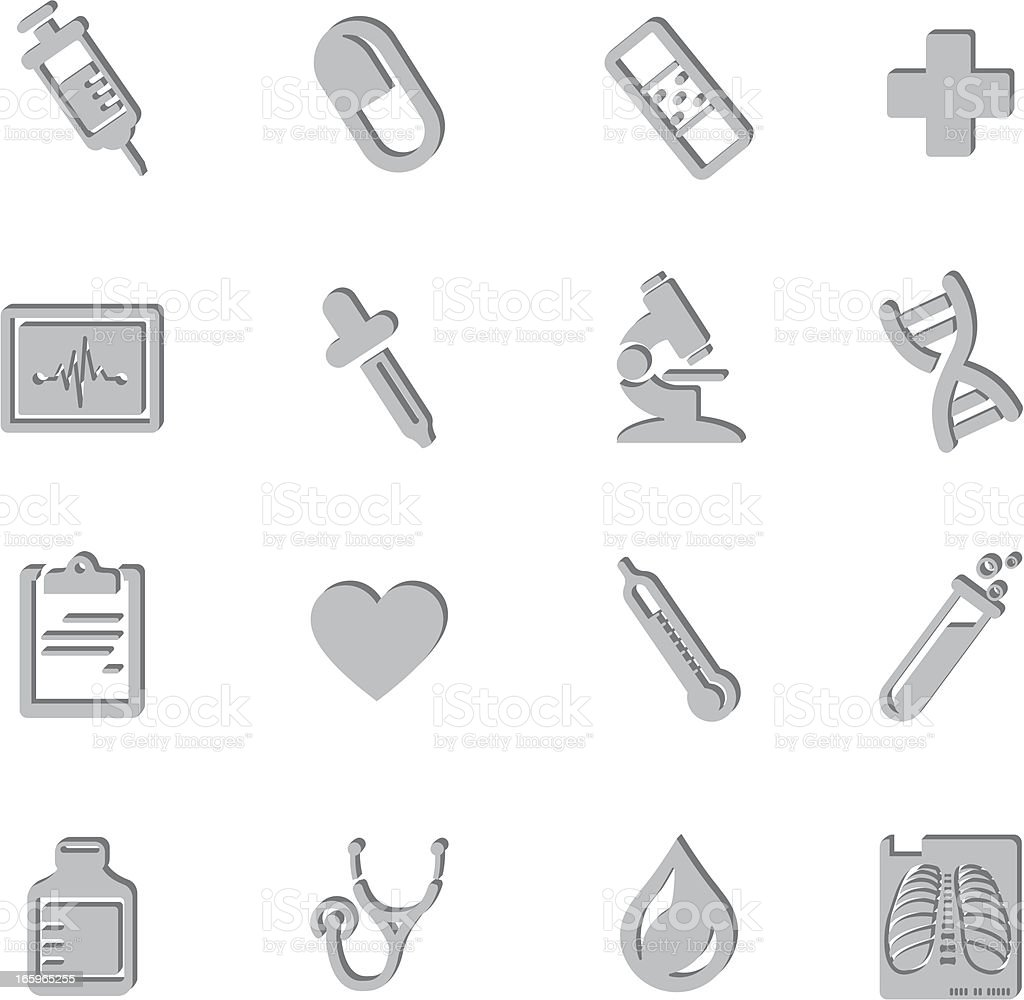 Medical Imprint Symbols royalty-free stock vector art
