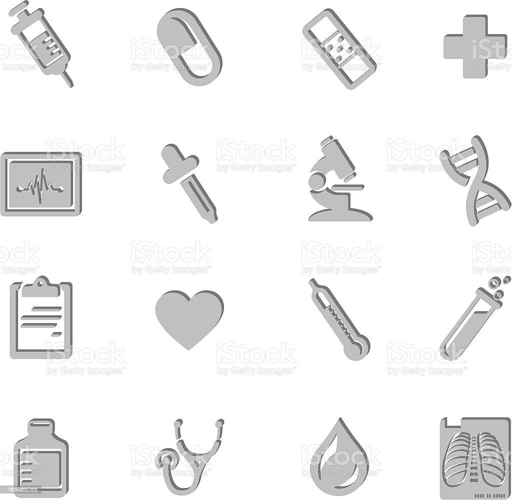 Medical Imprint Symbols vector art illustration
