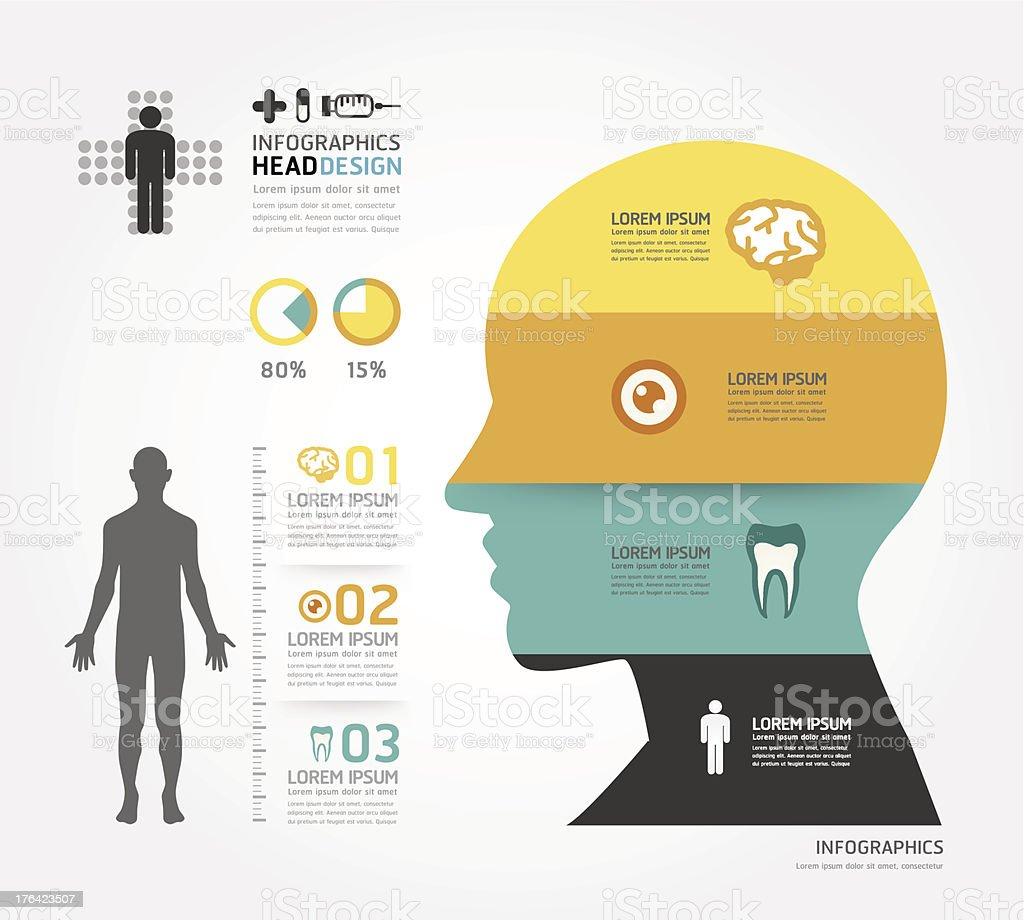Modèle de conception infographie médical - Illustration vectorielle