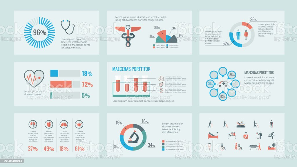 Medical Infographic Elements. vector art illustration
